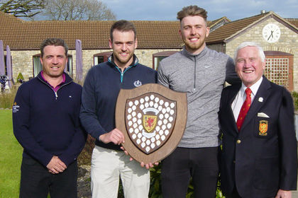 Taylor Lloyd & Sam Fernley Scratch Foursomes Champion