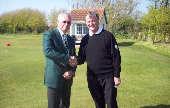 West of England Champion Michael Wigley with Burnham & Berrow Captain Martin Wilkins