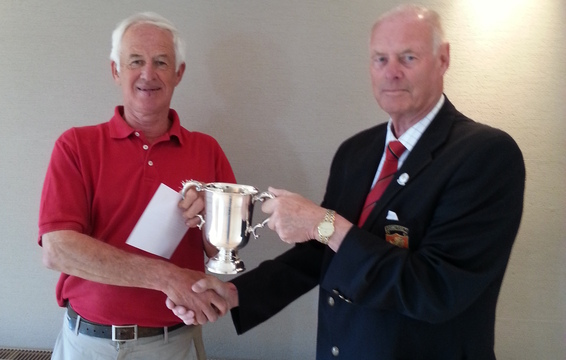 Seniors Champion John Whitcutt with Somerset President Brian Evans
