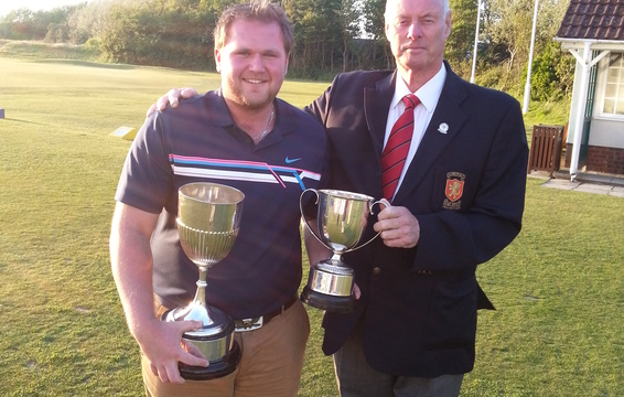 Ellis Cook receives Colts and County Championship Trophies