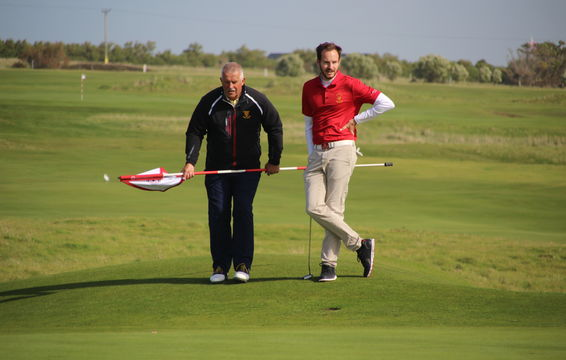 Will Poole and his Cornish Caddie David Kneebone