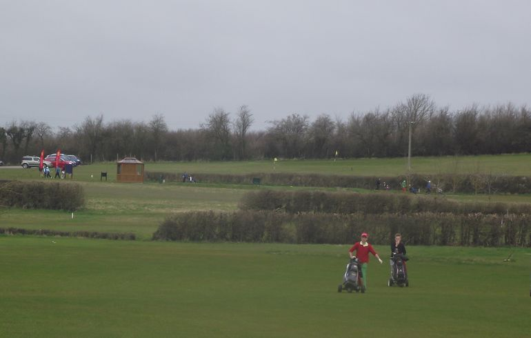 Early competitors out on the course