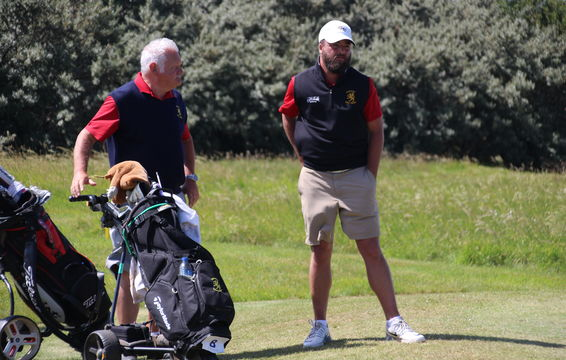 Jamie Clare with caddie Norman Banfield